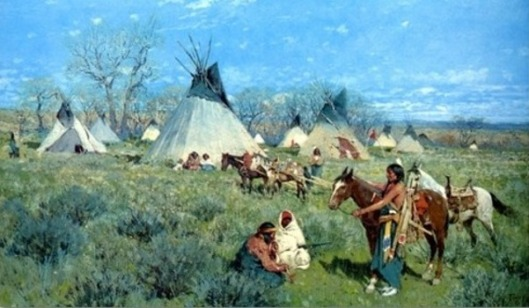 Sioux Hunting Camp