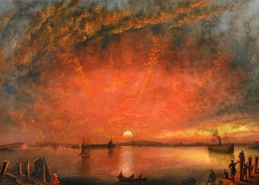 Sunset Over Baltimore Harbor