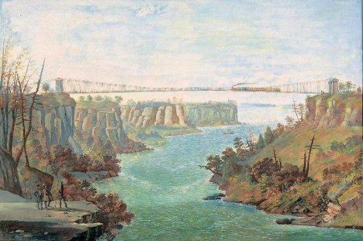 Sunspension Bridge Over The Niagara