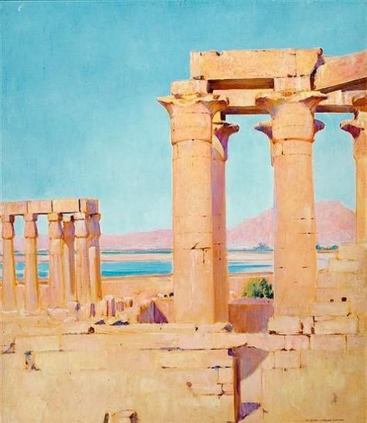 Temple Along The Nile