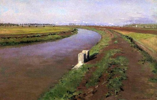 The Banks Of A Canal, Near Naples