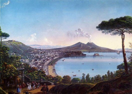 The Bay Of Naples With An American Frigate