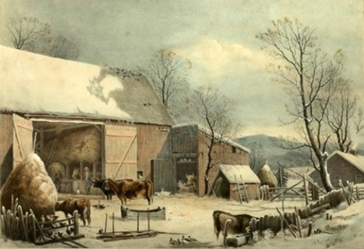 The Farm-Yard In Winter