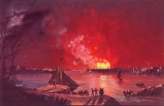 The Great Fire As Seen From Williamsburg