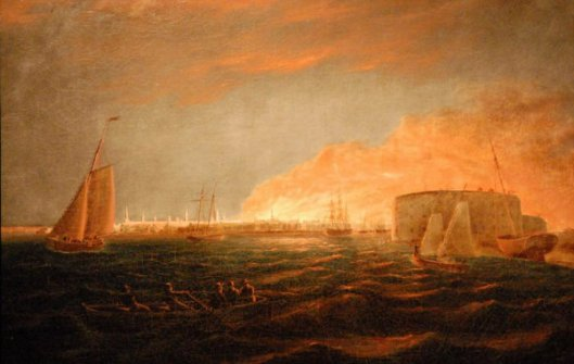 The Great Fire Of 1835 As Seen From New York Harbor
