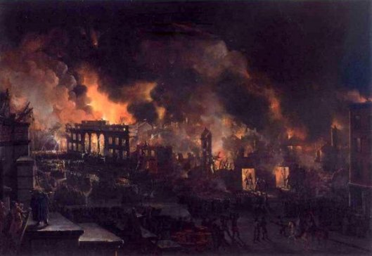 The Great Fire Of New York As Seen From The Bank Of America