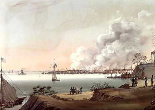 View Of New York After The Great Fire Taken From Brooklyn
