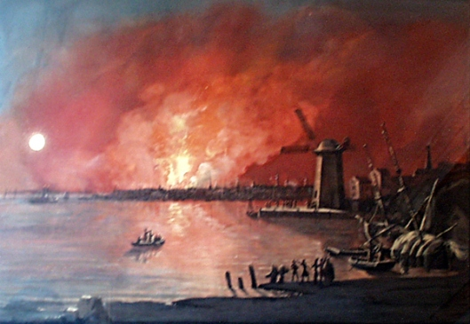 View Of New York As It Appeared On The Eve Of The Fire