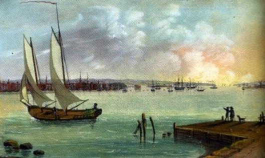 View Of New York Harbor Taken From Hoboken