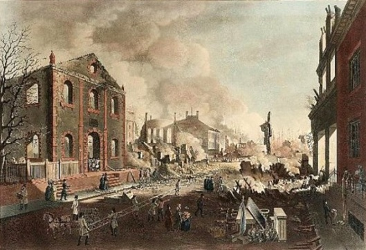View Of The Ruins After The Great Fire In New York