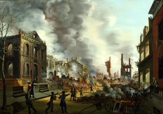 View Of The Ruins After The Great Fire