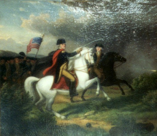 Washington And Lafayette In The Battle Of Monmouth