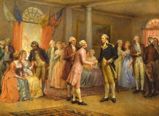 Washington Greeting Lafayette At Mount Vernon