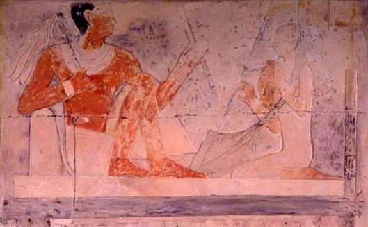 Wife of Pharaoh Playing The Harp