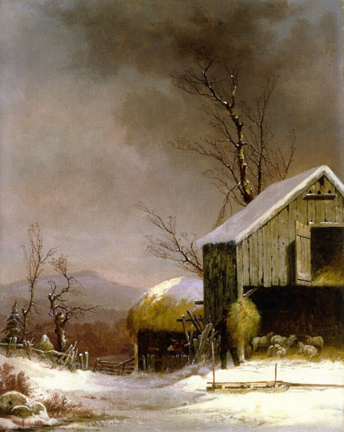 Winter Farm Scene, Connecticut