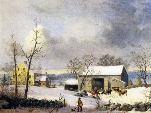 Winter In The Country, Farmyard