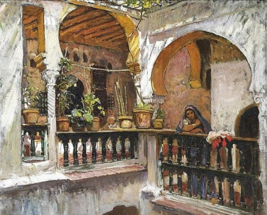 Woman On A Balcony, Algiers