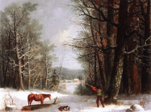 Woodsman In Winter