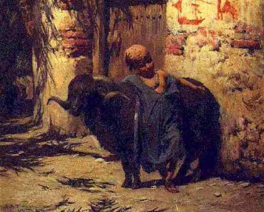Young Boy With Black Ram