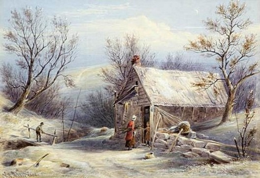 An Ulster County Shanty In Winter