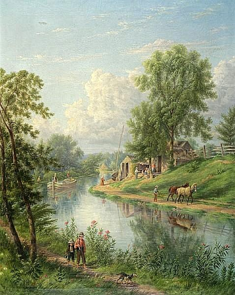 Canal Scene, Little Falls, New Jersey