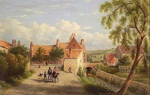 Country Village Scene