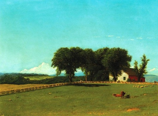 Pastoral Landscape With Cows And Sheep