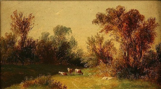 Pastoral Landscape With Cows