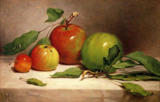 Still Life - Study Of Apples