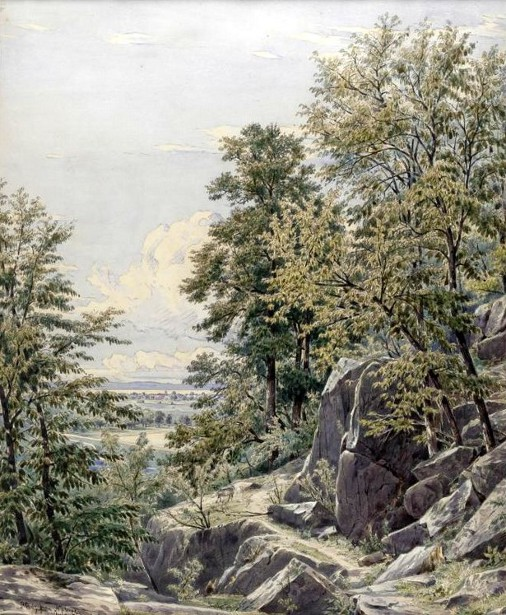 Study From Nature, Union Hill, New Jersey