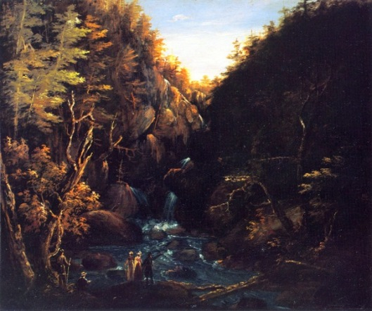 An Excursion To A Waterfall In The Mountains - Tourists By A Waterfall