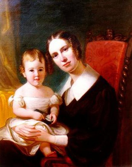 Anna Bloodgood And Her Daughter