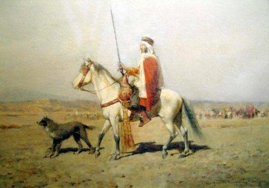 Arab Horseman And Dog
