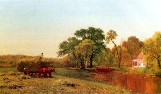 Farm Scene With Hay Wain, Granby, Connecticut