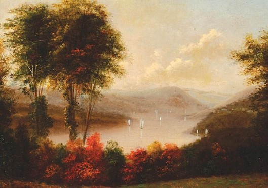 Hudson River Autumn Landscape