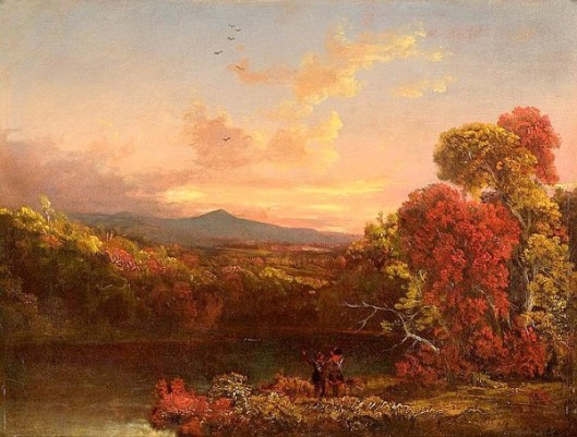 Landscape With Two Figures At Sunset
