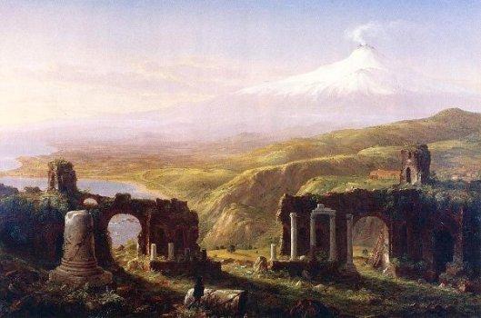 Mount Etna From Taormina, Sicily