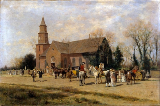 Old Bruton Church, Williamsburg, Virginia, In The Time Of Lord Dunmore