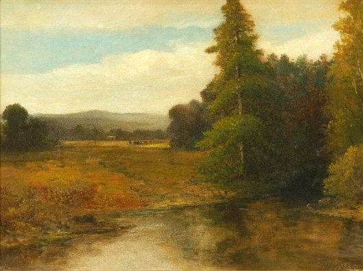 Pastoral Landscape With Pond And Cows