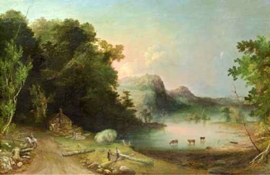 The Log Cabin (Cattle In Lake)
