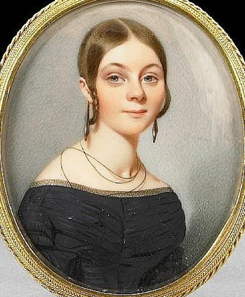Young Lady Wearing Black Gown