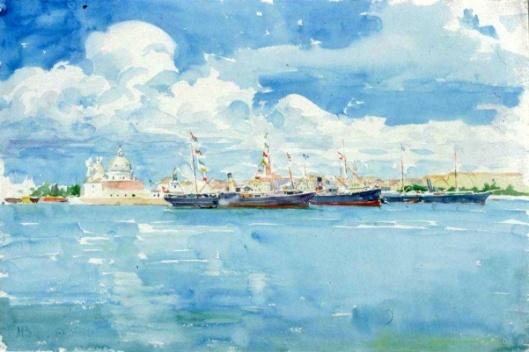 American Boats In Venice Harbor