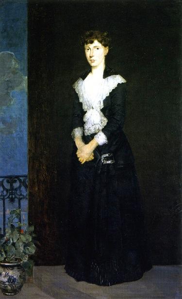 Anna On The Balcony Of Duveneck's Studio