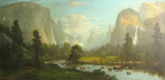 Bridal Veil Valley From Merced Lake (signed as WM Hart)
