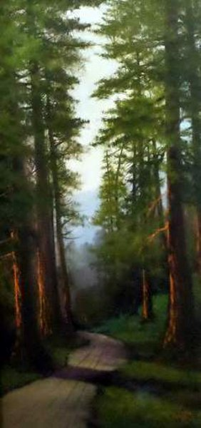 California Redwoods (signed as J. Hart)