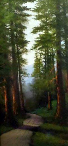 California Redwoods (signed as J. Hart)