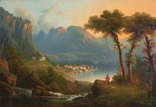 Chief Daniel Ninham Looking Across The Hudson River At Cold Spring