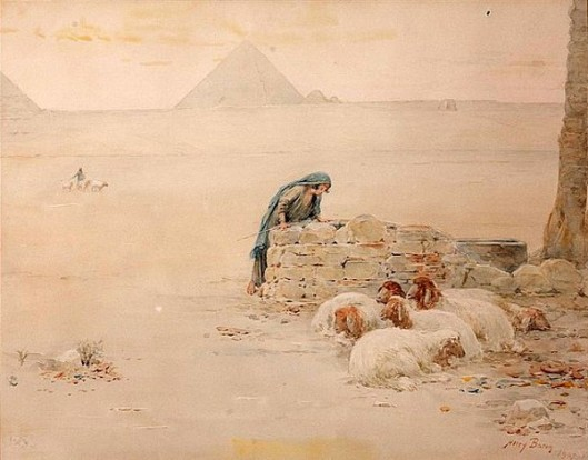 Egyptian Shepherdess At The Well