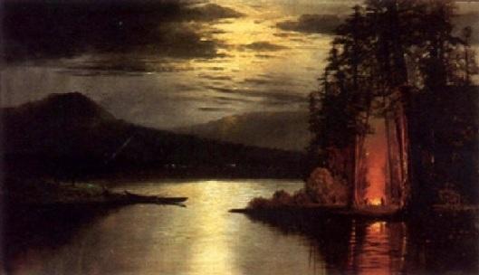 Evening Camp Along A River