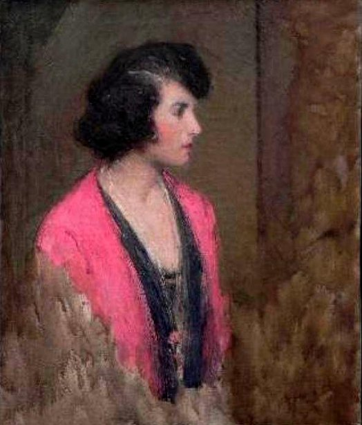Genevieve - Woman In Gray And Pink Kimono